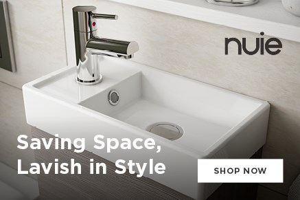 Save in Space, Lavish in Style: pieces ideal for cloakrooms & smaller bathrooms