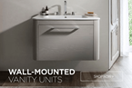 wall mounted vanity units