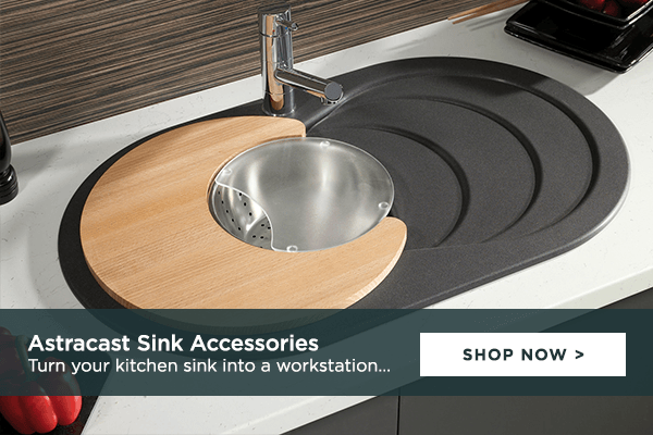 Turn your sink into a workstation with Astracast Kitchen Sink Accessories