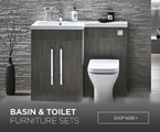 combination toilet basin furniture sets