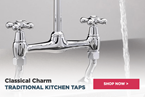 A Classical Charm: Tre Mercati Traditional Kitchen Taps