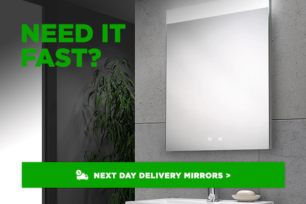 Bathroom Mirrors available for next day delivery