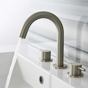 Brushed Finish Bathroom Taps