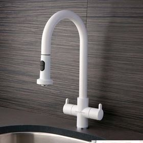 White Kitchen Taps