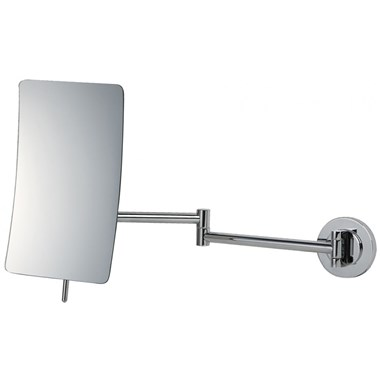 Bathroom Origins Square 5x Magnification Bathroom Wall Mirror