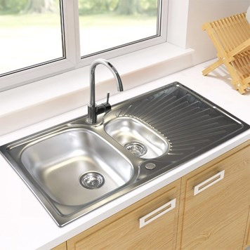 Astracast Sunrise 1.5 Bowl Stainless Steel Sink & Drainer