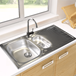 Astracast Sunrise 1.5 Bowl Stainless Steel Sink with Waste Kit & Rangemaster Vertex Brushed Nickel Mono Kitchen Tap