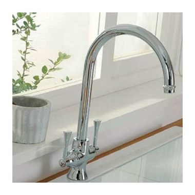Clearwater Regent Twin Lever Mono Sink Mixer with Swivel Spout