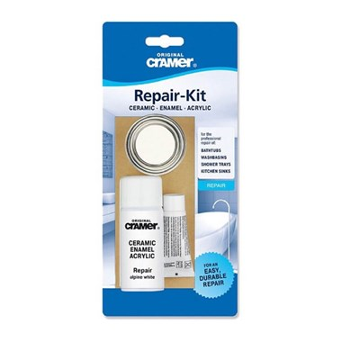 Cramer Professional Scratch & Chip Repair Kit for Ceramic, Enamel and Acrylic - Alpine White
