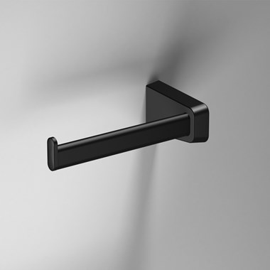 Sonia S6 Black Open Toilet Roll Holder - Left Handed