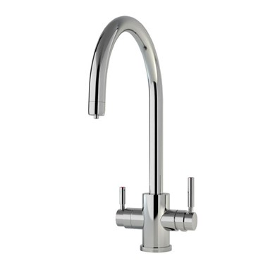 Perrin & Rowe Phoenix C Spout 3-in-1 Instant Hot Water Mixer Tap - Pewter