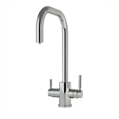 Perrin & Rowe Phoenix U Spout 3-in-1 Instant Hot Water Mixer Tap - Pewter