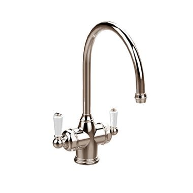 Perrin & Rowe Polaris C Spout 3-in-1 Instant Hot Water Mixer Tap - Nickel