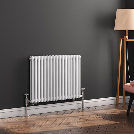 Butler & Rose Horizontal Designer Column Style White Radiator - 500 x 785mm