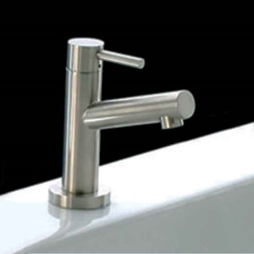Newform X-Trend Mini Mono Cold Rinse Tap - Brushed Steel