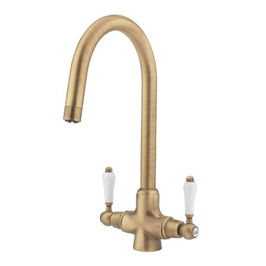 Tre Mercati Little Venice Mono Kitchen Mixer - Antique Brass