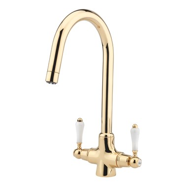 Tre Mercati Little Venice Mono Kitchen Mixer - Antique Gold