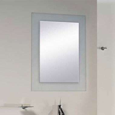 Bathroom Origins Denver Clear Glass Frame Mirror - 500 x 650mm