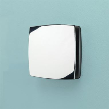 HIB Breeze Chrome Wall or Ceiling Mounted Slimline Low Profile Fan with Timer & Humidity Sensor