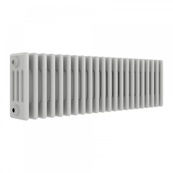Butler & Rose Horizontal Designer 4 Column Style White Radiator - 300 x 1010mm