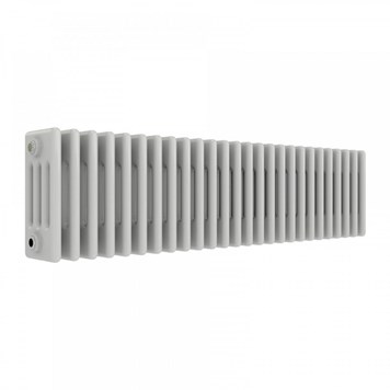 Butler & Rose Horizontal Designer 4 Column Style White Radiator - 300 x 1190mm