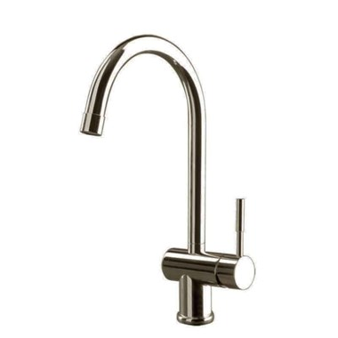 Gessi Oxygen Single Lever Mono Kitchen Mixer with Swivel 'C' Spout - Brushed Nickel