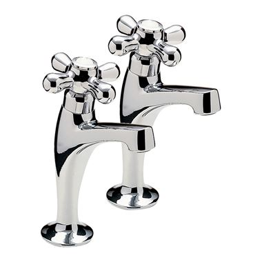 Series 900 Crosshead Pair Of High Neck Pillar Taps, Chrome Plated