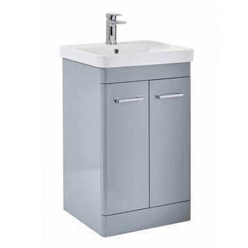 Harbour Identity 600mm Floorstanding Vanity Unit & Basin - Pebble Grey