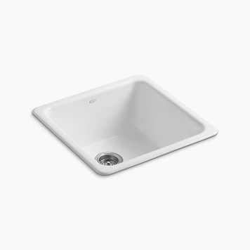Kohler Iron/Tones Single Bowl Inset or Undermount Cast Iron Sink - 530 x 530mm