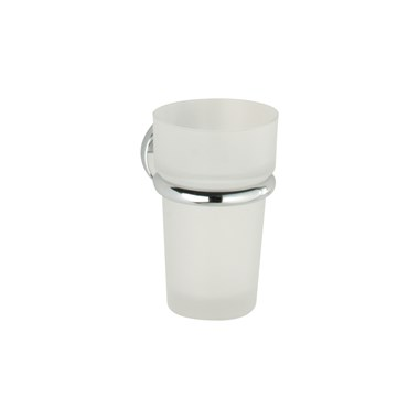 Roper Rhodes Minima Frosted Glass Tumbler & Holder
