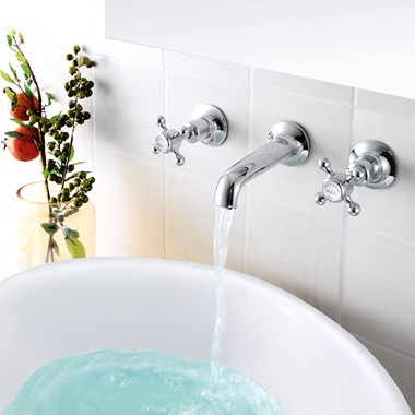 Butler & Rose Caledonia Crosshead Wall Mounted Basin Mixer