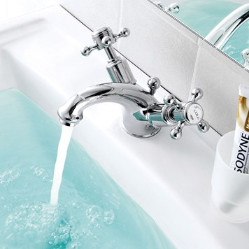 Butler & Rose Caledonia Dual Crosshead Handle Basin Mixer with Pop-up Waste