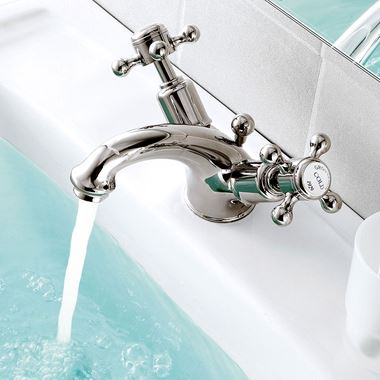 Butler & Rose Caledonia Crosshead Mono Basin Mixer with Pop-up Waste - Nickel
