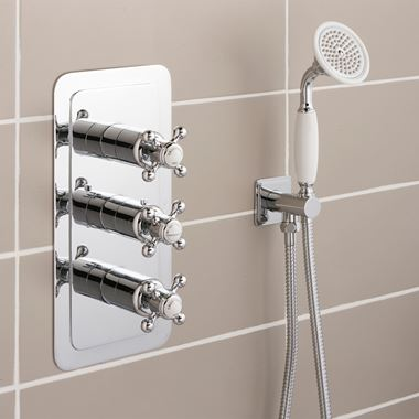 Butler & Rose Caledonia Crosshead Two Outlet Concealed Thermostatic Shower Valve