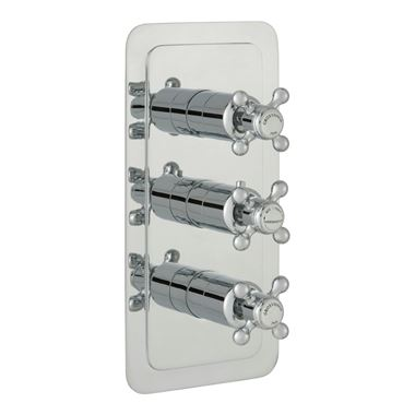 Butler & Rose Caledonia Crosshead Two Outlet 3 Control Concealed Thermostatic Shower Valve