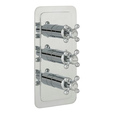 Butler & Rose Caledonia Crosshead Three Outlet Concealed Thermostatic Shower Valve