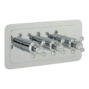 Butler & Rose Caledonia Crosshead Three Outlet Horizontal Concealed Thermostatic Shower Valve