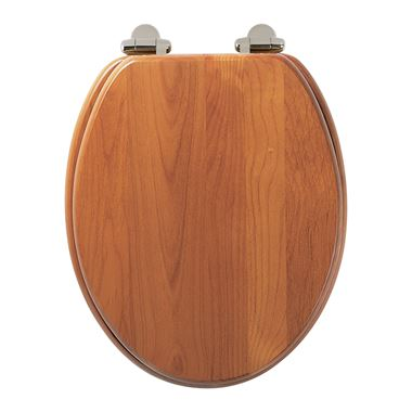 Roper Rhodes Traditional Toilet Seat with Soft Close Hinges - Antique Pine Finish