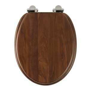 Roper Rhodes Traditional Toilet Seat with Soft Close Hinges - Walnut Finish