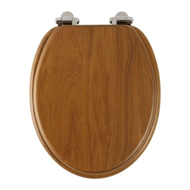 Roper Rhodes Traditional Toilet Seat with Soft Close Hinges - Honey Oak Finish