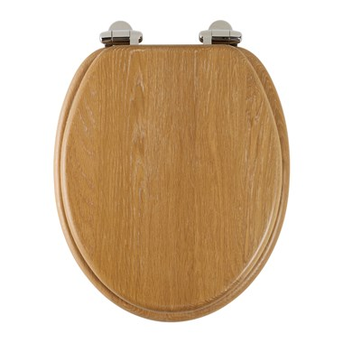 Roper Rhodes Traditional Toilet Seat with Soft Close Hinges - Solid Limed Oak Finish