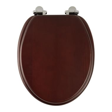 Roper Rhodes Traditional Toilet Seat with Soft Close Hinges - Mahogany Finish