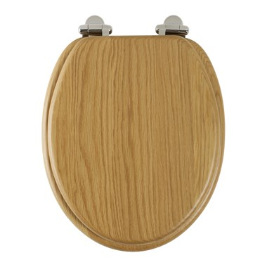 Roper Rhodes Traditional Toilet Seat with Soft Close Hinges - Oak Finish
