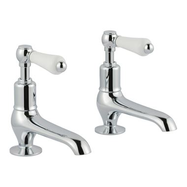 Butler & Rose Caledonia Lever Long Nose Basin Pillar Taps