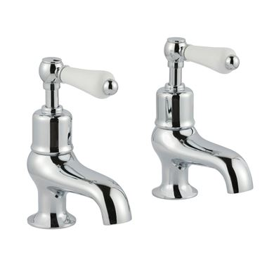 Butler & Rose Caledonia Lever Bath Pillar Taps - Chrome