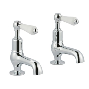 Butler & Rose Caledonia Lever Cloakroom Basin Pillar Taps - Chrome