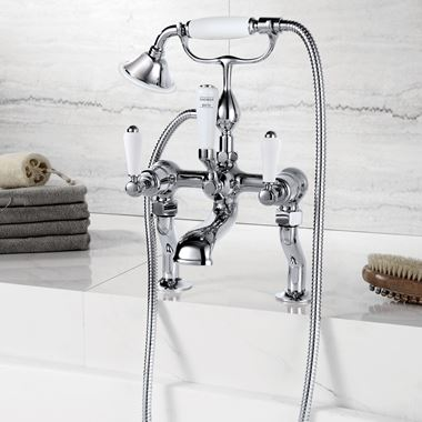 Butler & Rose Caledonia Lever Deck Mounted Bath Mixer with Shower Handset