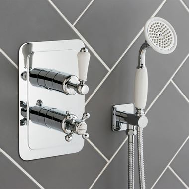 Butler & Rose Caledonia Lever Two Outlet Concealed Thermostatic Shower Valve