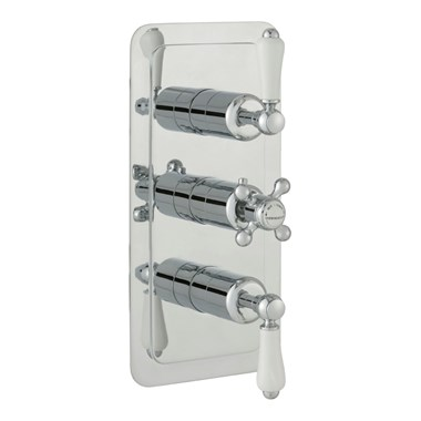 Butler & Rose Caledonia Lever Two Outlet 3 Control Concealed Thermostatic Shower Valve