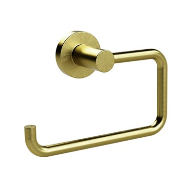 Miller Bond Toilet Roll Holder - Brushed Brass
